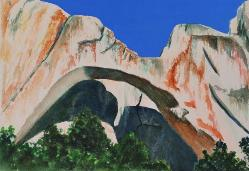 Arch, El Malpais New Mexico, watercolor, ©Anna Dal Pino