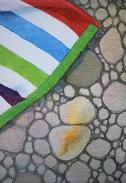 Beached Towel, small detail, watercolor