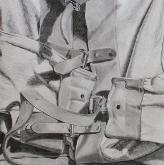 Buckle Study, pencil on paper