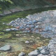 Down by the River, Big Sur, watercolor