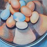 In a Spin, colored pencil on paper, (eggs)