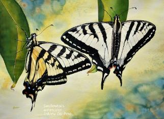 Swallowtails, watercolor, ©Anna Dal Pino