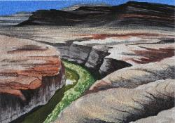 Dirty Devil River, Utah, pastel & watercolor, ©Anna Dal Pino