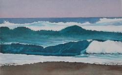 Wave Watching, watercolor, ©Anna Dal Pino